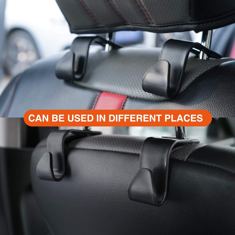 Houseday Car Seat Headrest Hooks for Car Purse Hook for Car Handbag Clothes Umbrellas Coats Grocery Bags /& More!( 4 Pack) Back Seat Organizer Hanger Storage Hook Car SUV Black
