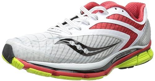 Running Shoe, White/Red/Citron, 8