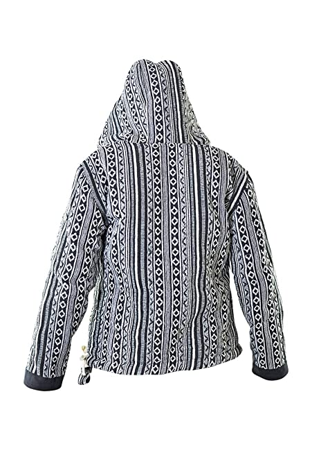 virblatt - Baja Hoodie Hippie Jacket Womens Fleece Jacket Warm Jacket Mexican Hoodie - Bhutan at Amazon Womens Clothing store: