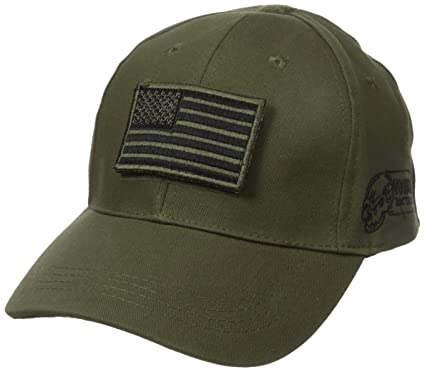 1678fe2ab VooDoo Tactical 20-9351004000 Cap with Removable Flag Patch, OD