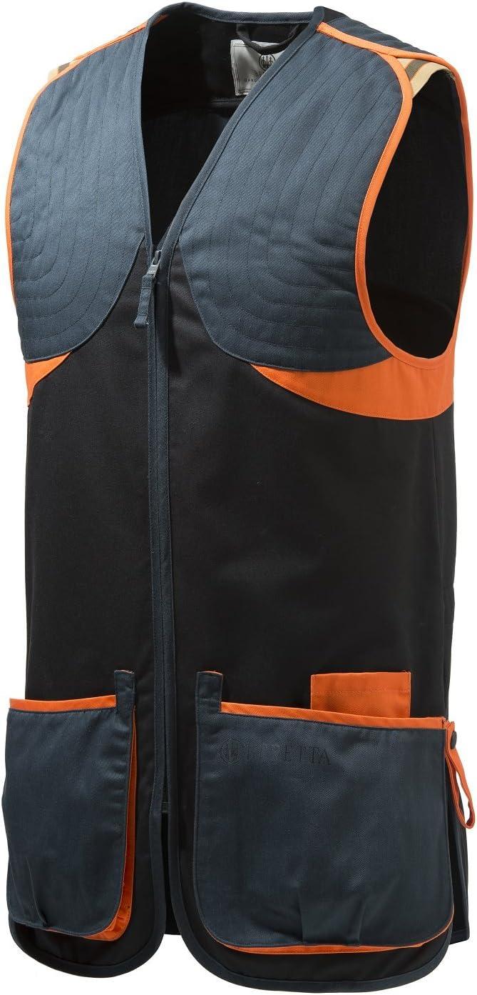 tama/ño Medium Color Azul y Negro Chaleco para Tiro para Hombre BERETTA Full Cotten