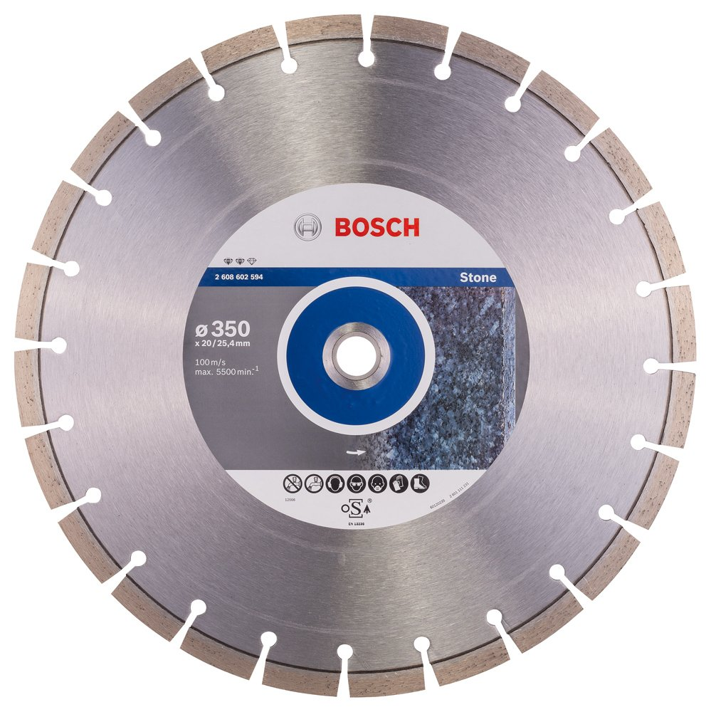 Bosch 2 608 602 594 350 x 20,00+25,40 x 3,2 x 12 mm Disco de corte de diamante Expert for Stone pack de 1