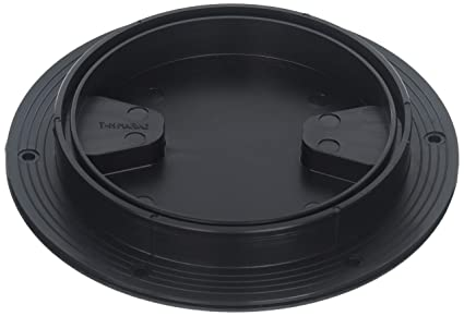 TH Marine DPS-6-1-DP Sure-Seal Screw Out Deck Plate - Black, 6