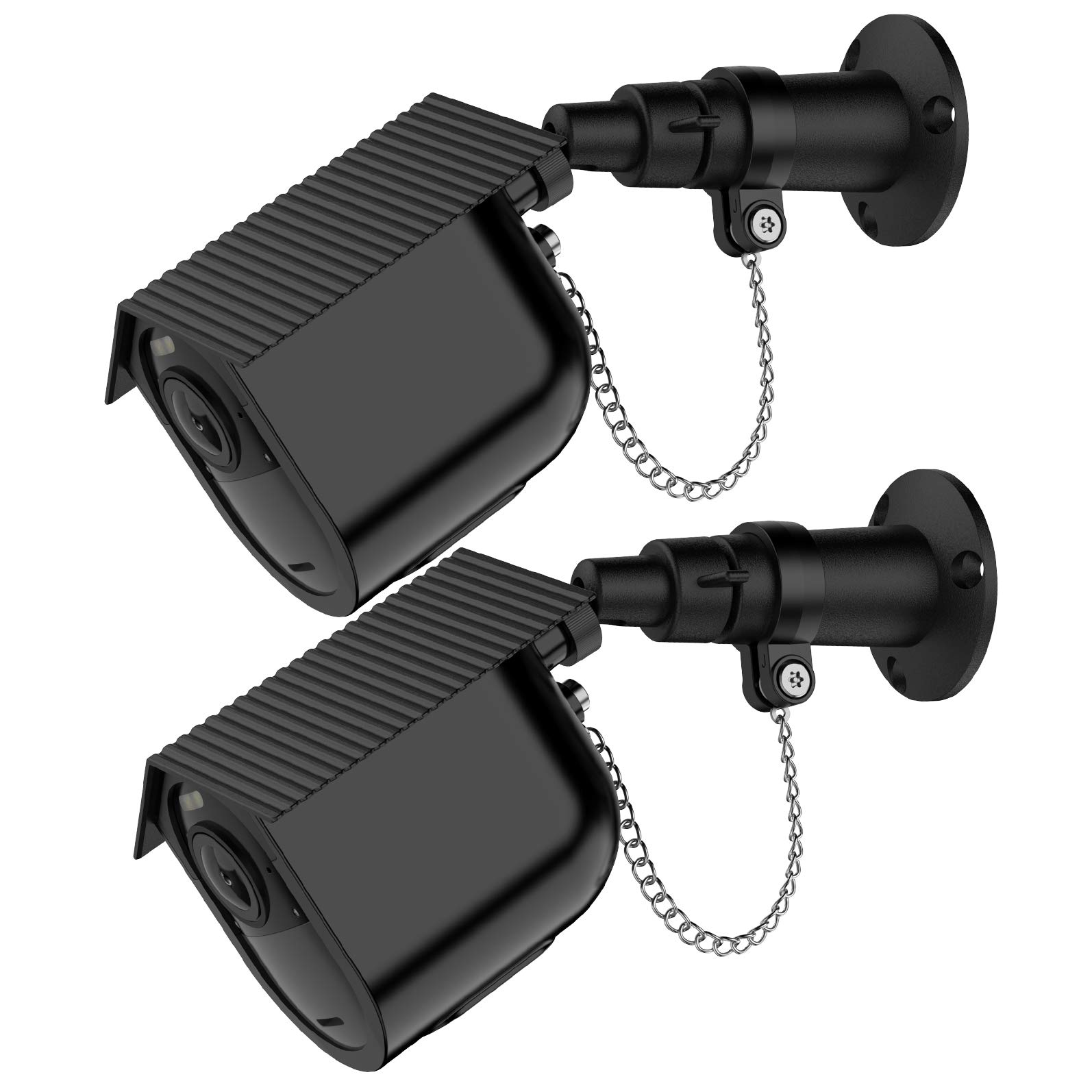 Wall Mount Bracket for Arlo Ultra - Adjustable Outdoor Security Mount with Anti-Theft Chain Lock and Waterproof Cover Case for Arlo Ultra 4K HD by OkeMeeo(Black, 2 Pack) by OkeMeeo