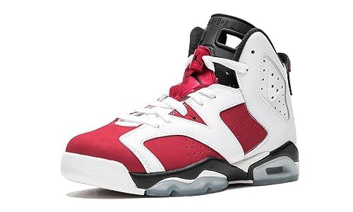 08f4aa5d427a14 Nike BG (GS) Air Jordan 6 Retro  Carmine  White Carmine-Black ...
