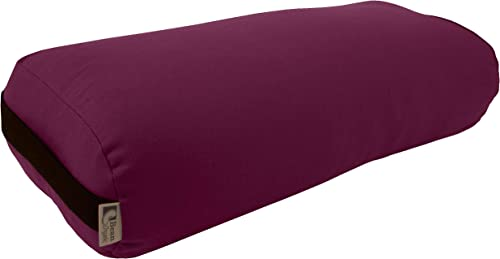 Bean Products Best Yoga Bolsters – Rectangle, Round or Pranayama Support Cushions – Meditation Zafu Massage Prop – Organic Cotton, Cotton, Hemp or Yoga Studio Vinyl 3 Shapes Made in USA