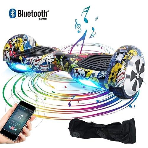 "BEBK Hoverboard, 6.5"" Self Balance Scooter mit Bluetooth Lautsprecher, 2 * 350W Motor, LED Lights, Elektro Scooter"