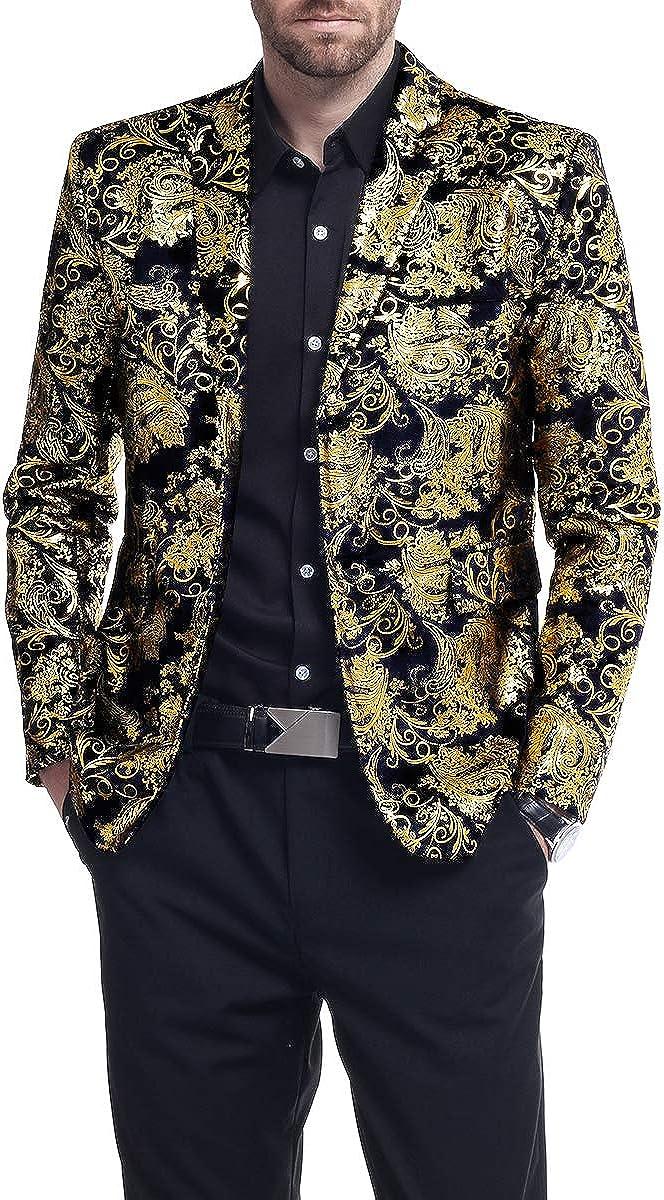 Mens luxury Casual Dress Suit Slim Fit Stylish Blazer