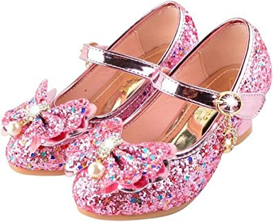 Sparkle Little Girls Shoes Mary Jane Flats for Daily Wedding Birthday Dress