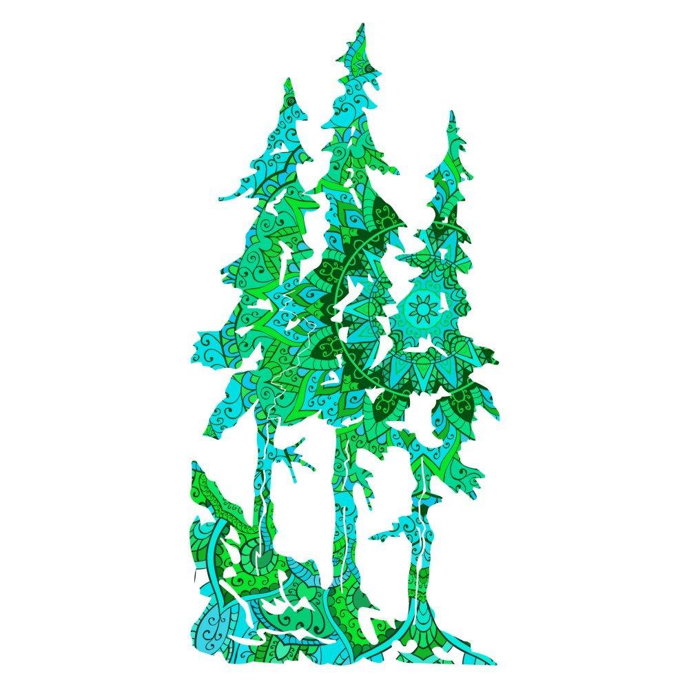 Next Innovations Pine Trees Coolブルー壁アート ブルー 101410017COOBLU B01N3LUGVZ ブルー