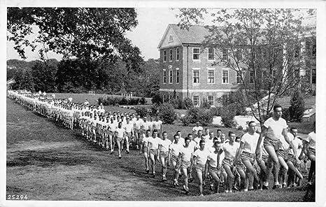 Athens Georgia Navy Pre Flight School Marching Antique Postcard