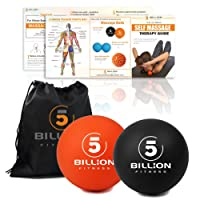 5BILLION Massage Ball - Lacrosse Ball & Stress Ball - Deep Tissue Massage Tool for Myofascial Release, Muscle Relax, Accupoint Massage, Physical Therapy