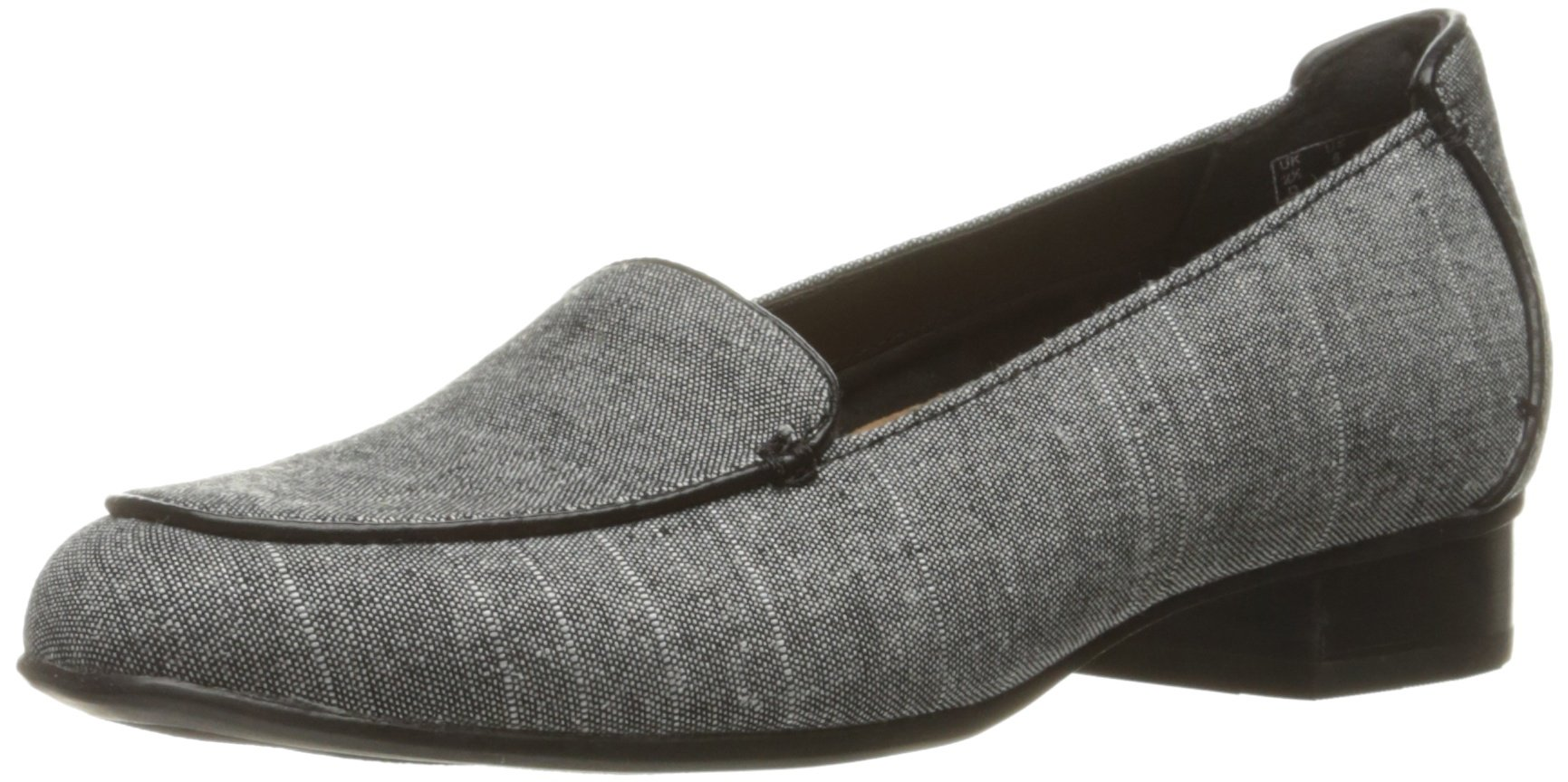 Clarks Women's Keesha Luca Slip-on Loafer, Black Linen, 11 N US