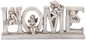 "Dahlia Studios Home 12"" Wide Decorative Shelf Sculpture with Angels"