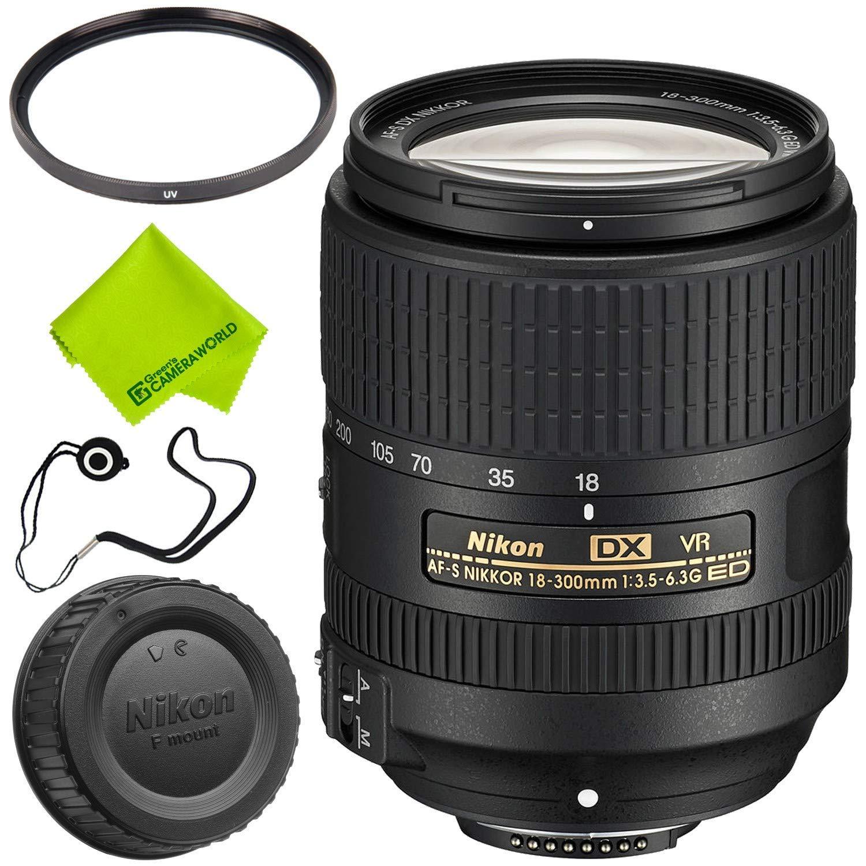 Nikon AF-S DX NIKKOR 18-300mm f/3.5-6.3G ED VR Lens Base Bundle by Nikon