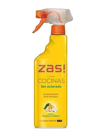 Zas! by KH-7 - Limpiador cocinas sin aclarado - Desengrasante, aroma de mandarina e iris blanco - 750 ml - [pack de 3]