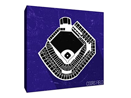 Amazoncom Coors Field Seating Map Baseball Seating Map