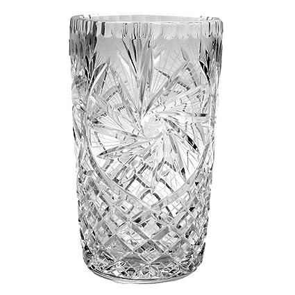 Amazon Crystal Vase Pinwheel 8 Inches Home Kitchen