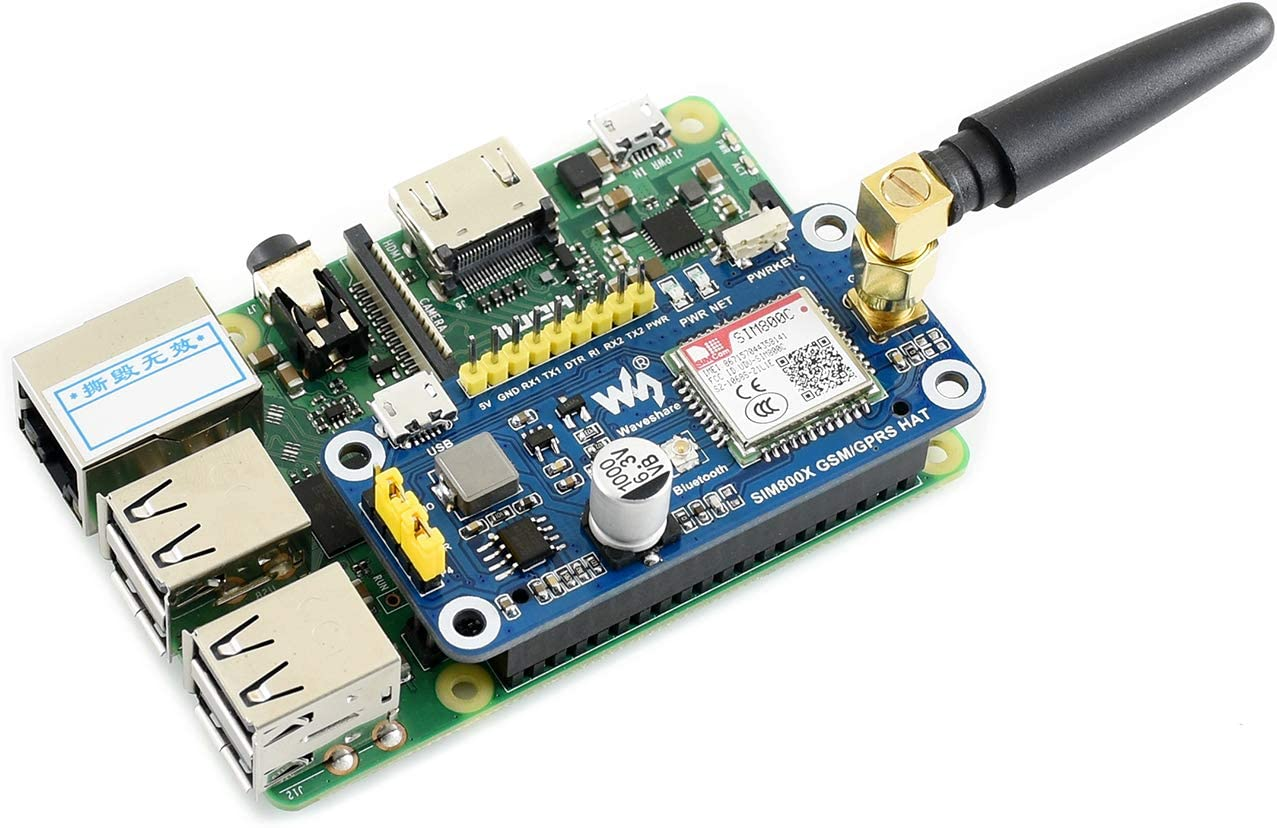 Waveshare/4G//3G//GNSS/HAT/for/Raspberry/Pi/Zero//Zero/W//Zero/WH//2B//3B//3B+/Based/on/SIM7600A-H/LTE/CAT4/up/to/150Mbps/Support/Phone/Call/Wireless/Communic