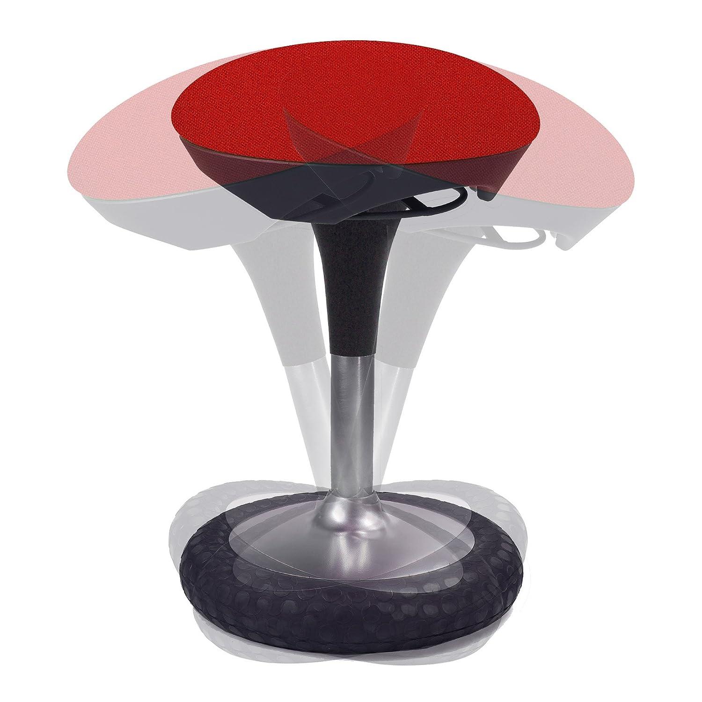 Topstar Sitness 20, ergonomisk sittdyna, arbetschock, kontorspall med svängeffekt, inställning av sitthöjd och överdrag blå röd