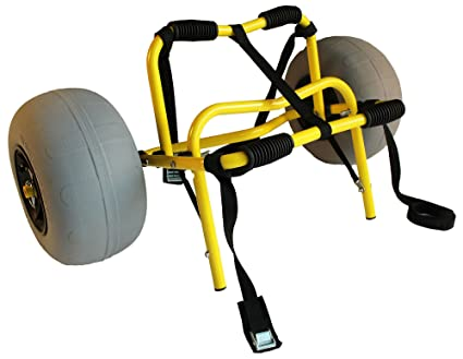 Amazon com: Suspenz Deluxe Balloon Sand Kayak Cart: Sports
