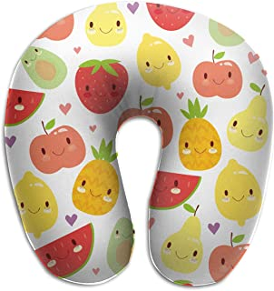 Miedhki Multifunctional Neck Pillow Cute Fruit U-Shaped Soft Pillows Portable for Sleeping Travel Unisex8