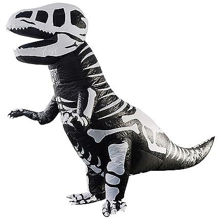 SODIAL Disfraz de Dinosaurio Inflable de Esqueleto Gigante T ...
