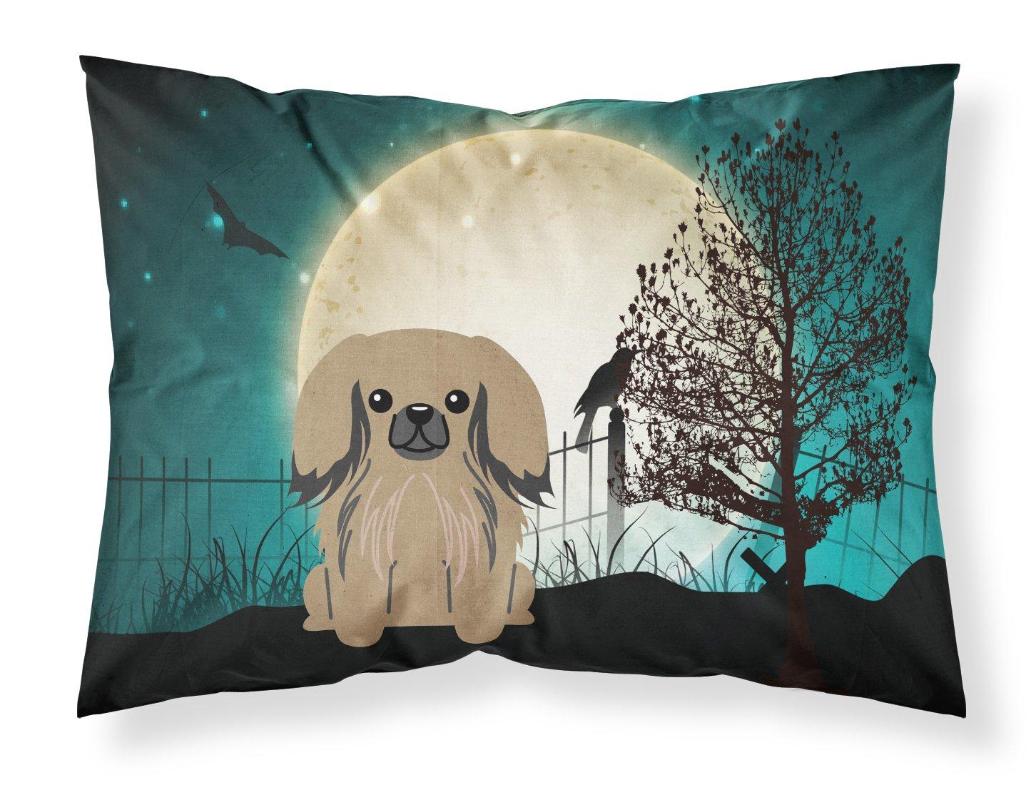 Carolines Treasures Halloween Scary Pekingnese Tan Fabric Standard Pillowcase BB2292PILLOWCASE Multicolor