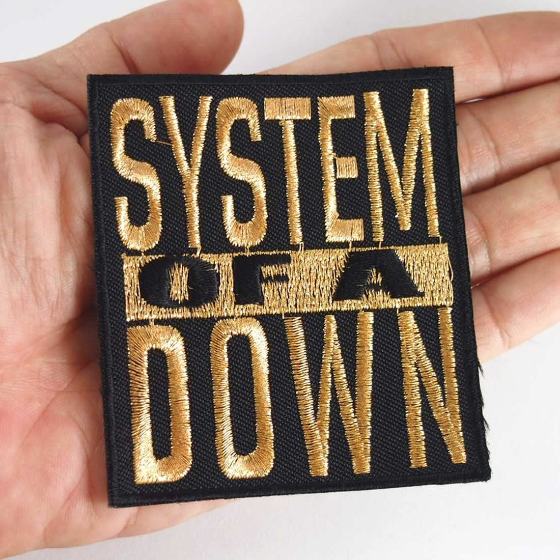 System of a Down heavy metal punk rock band Iron On Patches Gold # WITH FREE GIFT by Eddyshopping