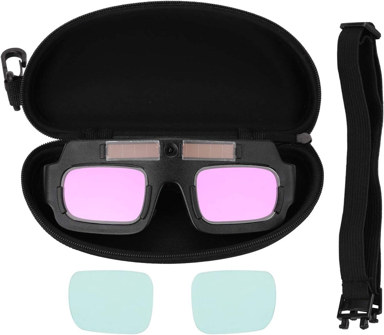 KKmoon Gafas de Soldadura Eléctrica,TIG Gafas Oscurecedoras Automáticas Solares,Gafas Antideslumbrantes Transparentes,Gafas Anti-Arco TX-012S