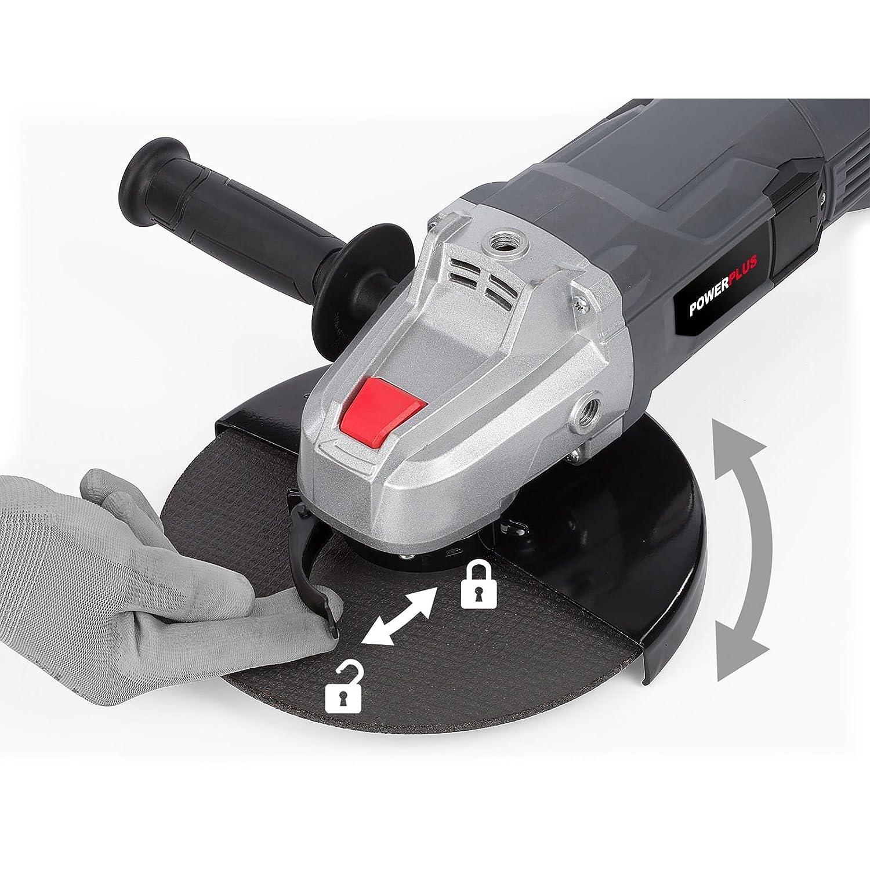 Powerplus POWE20030 smerigliatrice angolare 6500 Giri//min 2200 W 23 cm 6,16 kg
