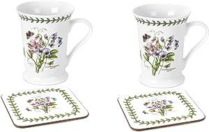 Portmeirion Dinnerware, Botanic Garden Mug and Coaster Set