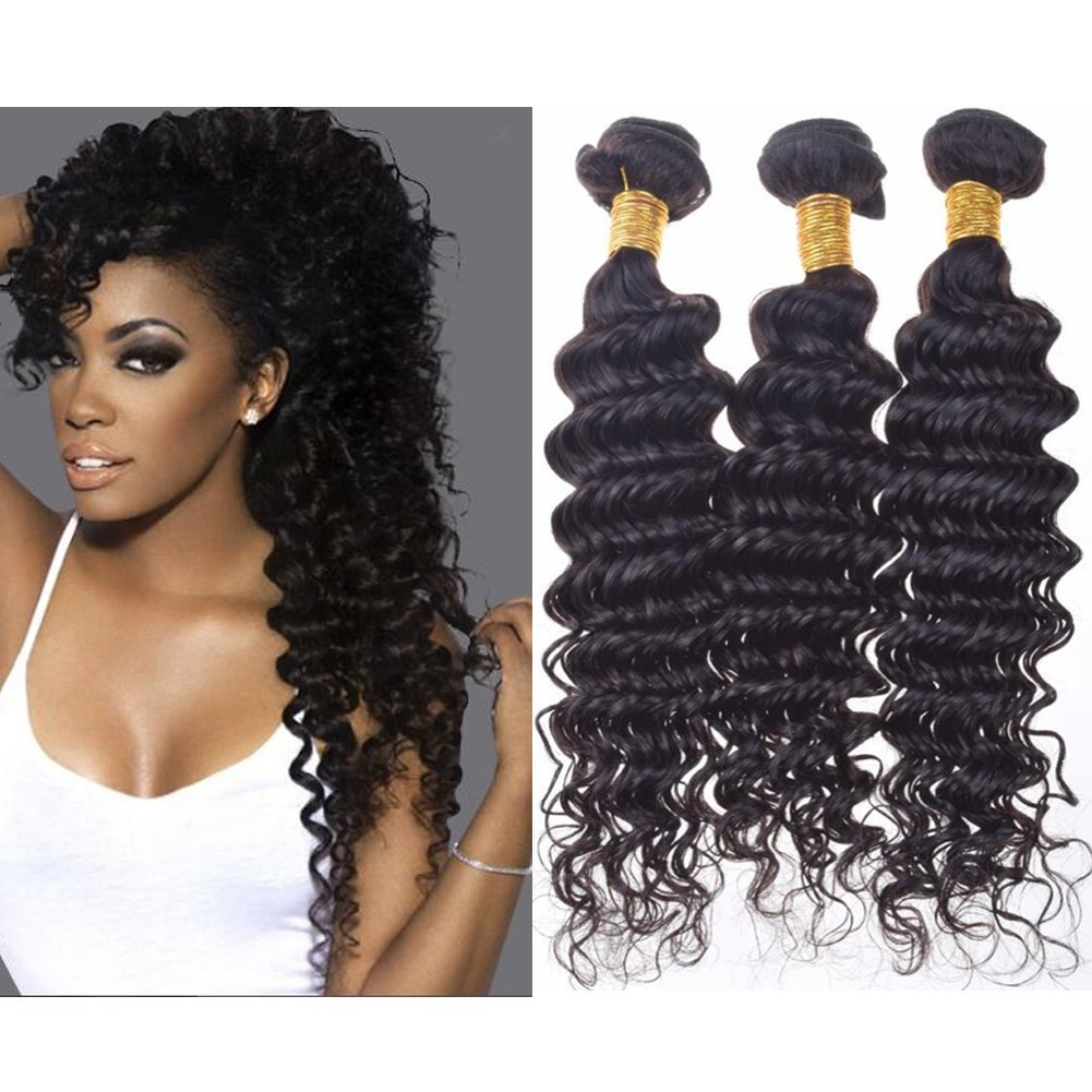 Amazon Ballice Hair 7a Peruvian Deep Wave 3pcs Virgin Hair