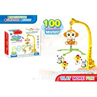 Baby Musical Crib Mobile Toy with Music, Hanging Rotating Early Learning Educational Toys for Infant Toddler Newborn Kids