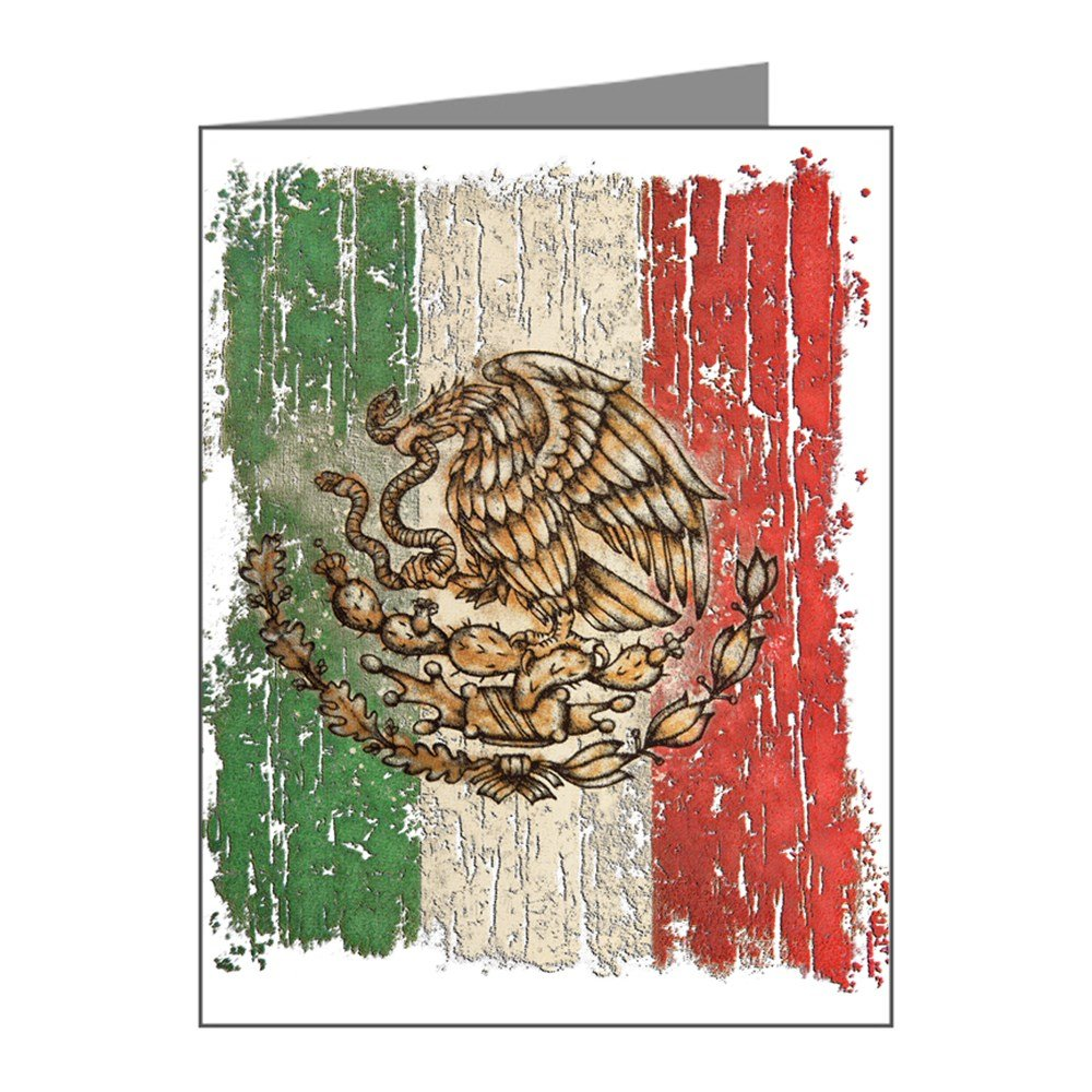 Note Cards (20 Pack) Mexican Flag Mexico Grunge