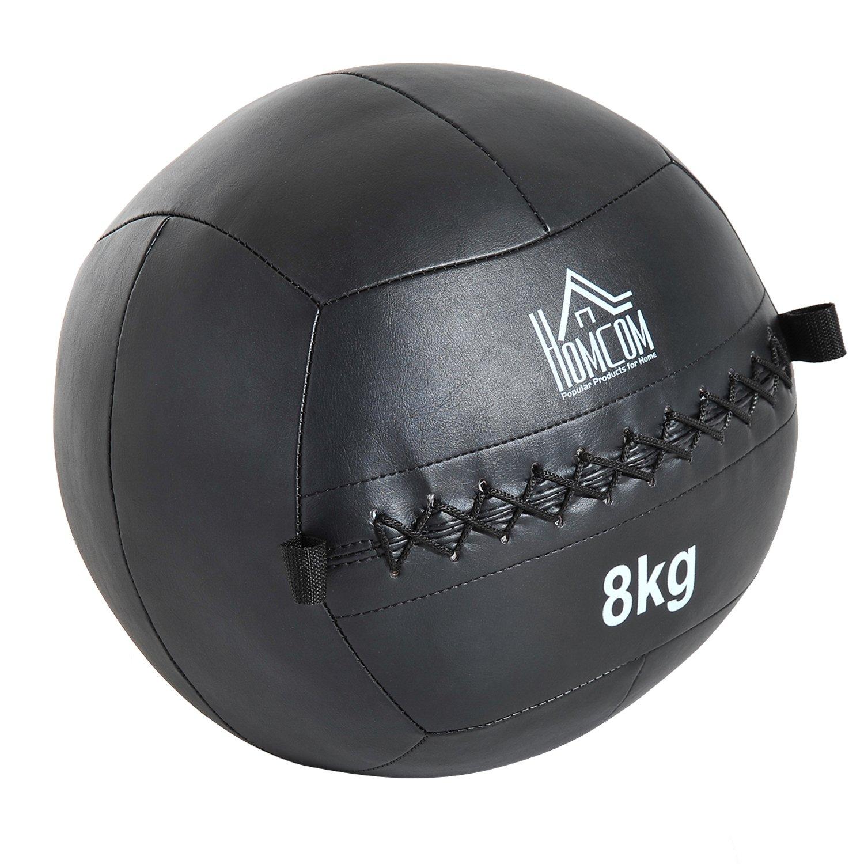HOMCOM Balón Medicinal de Crossfit Kg con Asas tipo Pelota de Ejercicios