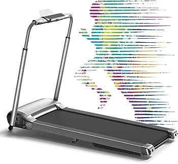 Wekeep 1.8HP Folding Portable Manual Compact Treadmill