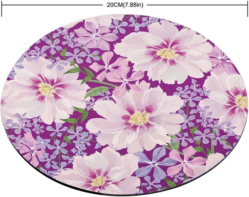 Purple Blossom Flowers Mouse Pad
