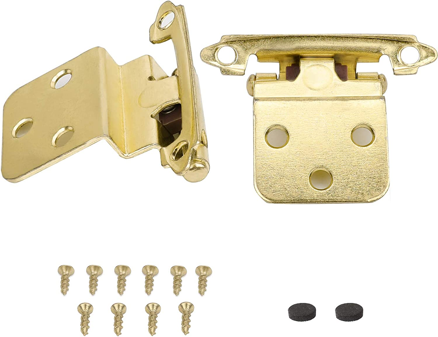 Goldenwarm 3 8 Self Closing Kitchen Cabinet Hinges Brass Cabinet Hardware Hinges Inset Sch38bb Cabinet Door Hinges Face Mount Bathroom Cabinet Hinges For Drawer Pairs Of 12 Amazon Com