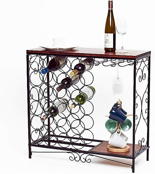 Wine Bottle Holder Elegant Iron Art Crafts Wine Cabinet Dinning Table Decor