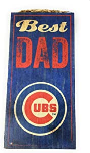 Fan Creations MLB Chicago Cubs Unisex Chicago Cubs Best Dad Sign, Team Color, 6 x 12
