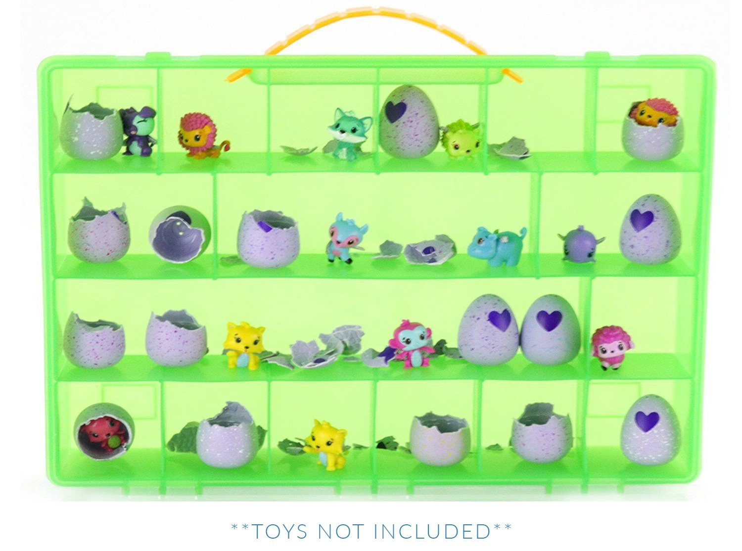 My Egg Crate Storage Organizer By Life Made Better - Compatible with the Hatchimals and Hatchimal Colleggtibles brands - Durable Carrying Case For Mini Eggs, Easter Eggs & Speckled Eggs –Green LMB155