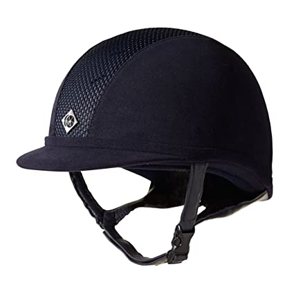 79767d402ea Amazon.com   CW AYR8 Leather Look Riding Helmet - Size 7 1 8 Color ...