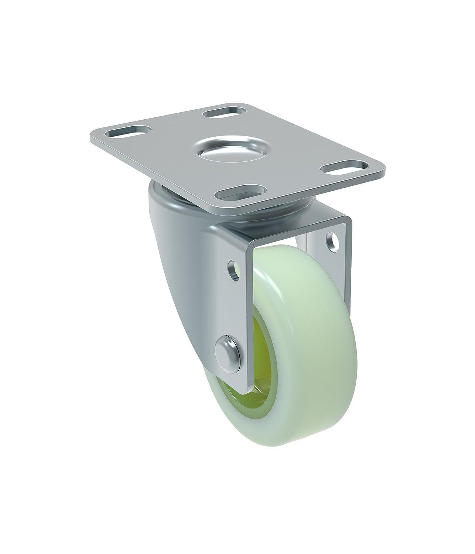 Schioppa GL 210 Citrus Green 2 Wheel Diameter Swivel Non-Brake Caster Non-Marking Polyethylene BH 1 x 2 BH 1 x 2 Plate: 2 x 2-1//2 Mint Green Plate: 2 x 2-1//2 90 lb