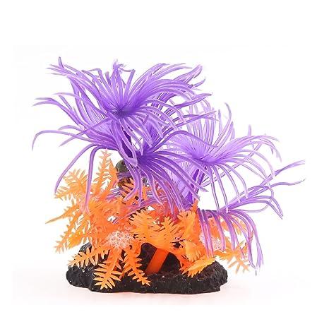 Sourcingmap – Aqua Paisaje Decoración Fish Tank plástico Coral para Peces Betta