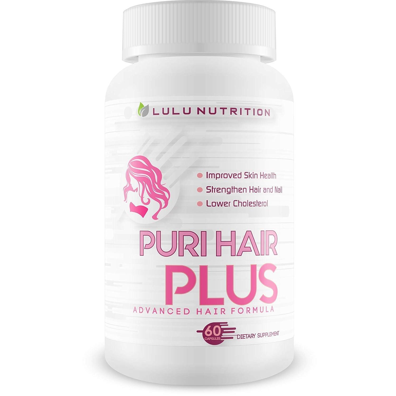 Puri Hair Plus Advanced Hair Formula - Re-Grow + Strengthen Hair and Nails with These Hair Skin and Nails Vitamins - Puri Hair Vitamins for Puri Hair Growth - Improve Skin Health - Puri Hair Regrowth