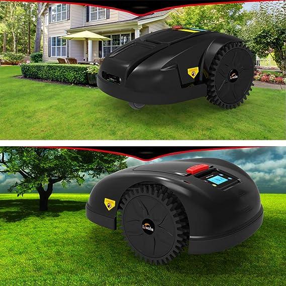 LCD Inteligente WiFi Robot Cortacésped, Negro Jardín Robots ...
