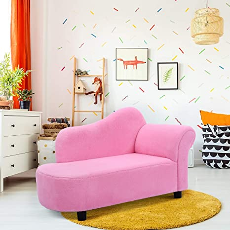 Magnificent Costzon Kids Chaise Lounge Sofa Couch Set Children Modern Seat Furniture Pink Coral Fleece Chaise Longue Unemploymentrelief Wooden Chair Designs For Living Room Unemploymentrelieforg