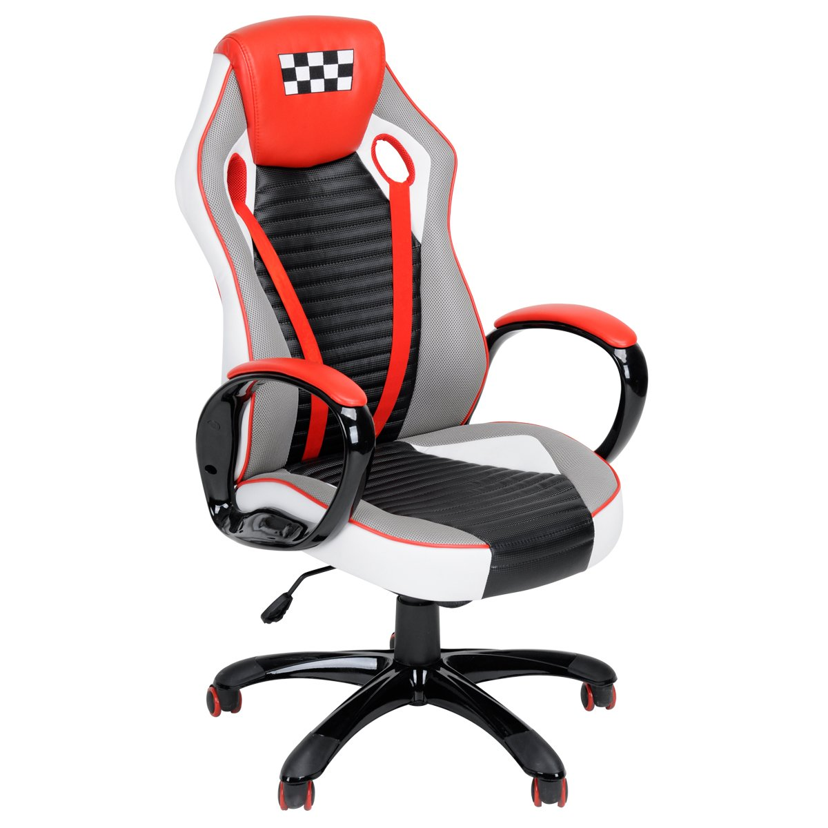 Homycasa Home Office Decorations Furniture, Ergonomic Computer Seat Faux Leather Office Racing Desk Chair (RED 2)