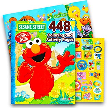 Sesame Street Elmo Coloring Book Jumbo 400 Pages Featuring Cookie Monster